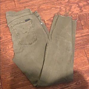 Hudson Skinny Army Green Pants